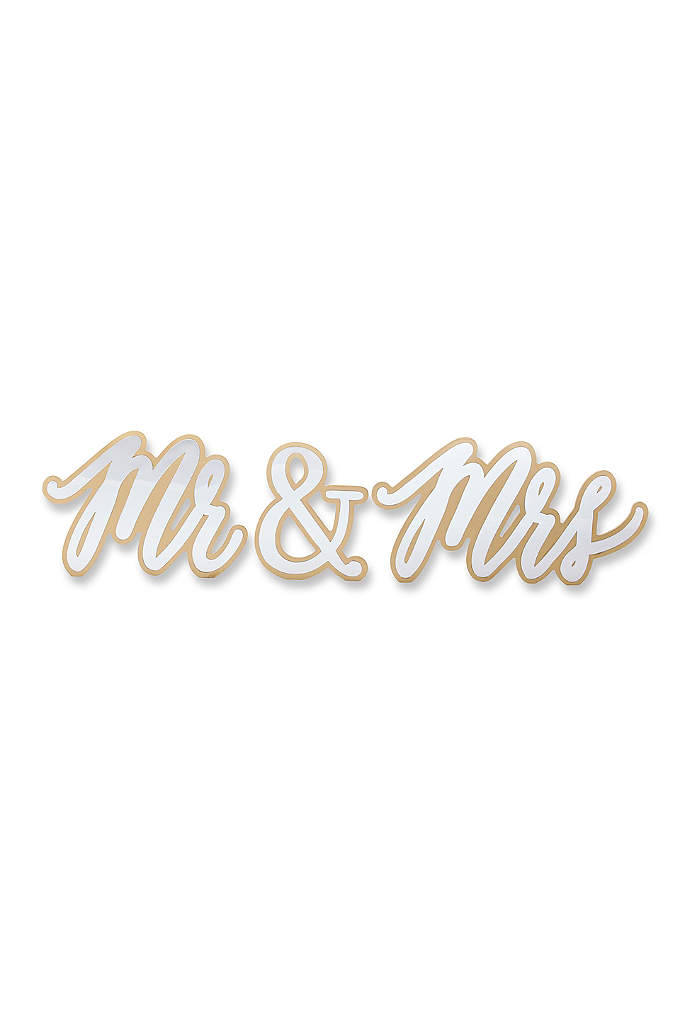 Gold Mr and Mrs Sweetheart Table Sign - Place this unique Gold Mr and Mrs Sweetheart