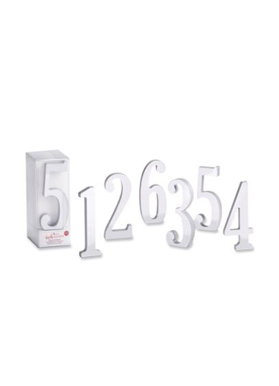 Silver Mirror Table Numbers Set of 6 - Wedding Gifts & Decorations