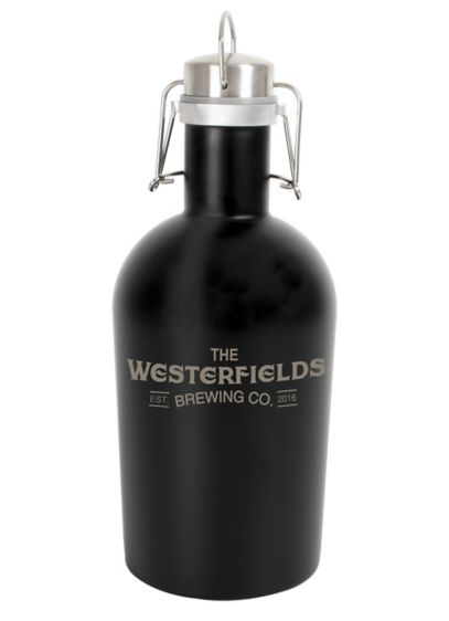 Personalized Black Stainless Steel Growler - Wedding Gifts & Decorations