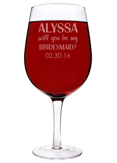 Personalized Will You Be My Bridesmaid Wine Glass 2232