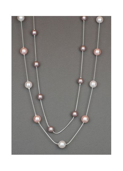 Pink Pearl Two Row Illusion Necklace 22464710