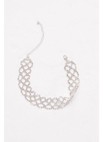 Wide Crisscross Rhinestone Choker - Wedding Accessories