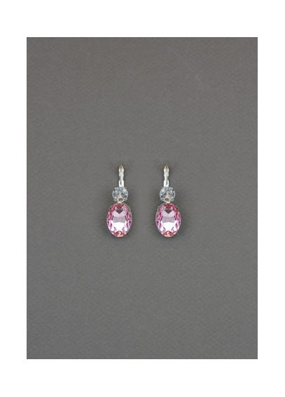 Pink Double Stone Drop Earrings 22585203