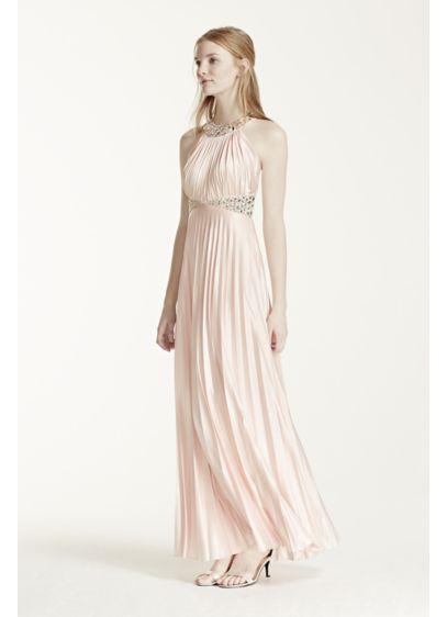 Long A-Line Halter Formal Dresses Dress - Sequin Hearts