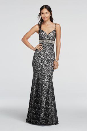 Black dress silver straps