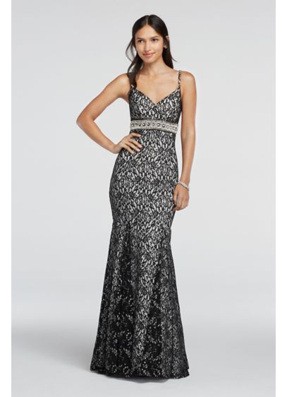 Long Mermaid/ Trumpet Spaghetti Strap Prom Dress - My Michelle