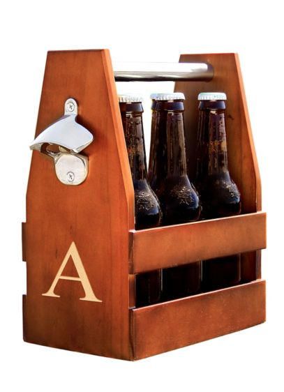 Personalized Wooden Craft Beer Holder - Wedding Gifts & Decorations