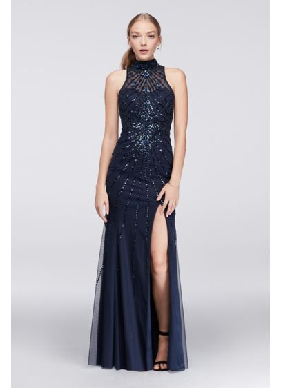 Long Mermaid/ Trumpet Halter Military Ball Dress - Sean Collections