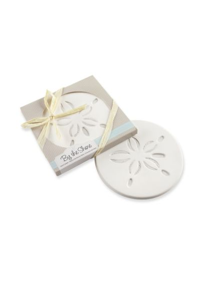 By the Shore Sand Dollar Coaster Favor - Wedding Gifts & Decorations
