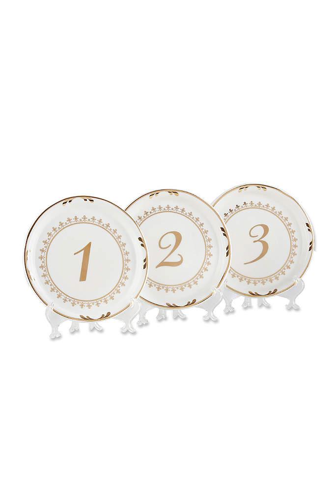 Tea Time Vintage Plate Table Numbers Set of - The Tea Time Vintage Plate Table Numbers are