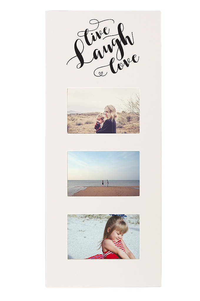 Live Laugh Love Multi Photo Frame - Place your dearest moments on display with the
