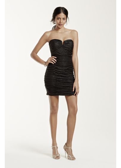 Short Sheath Strapless Cocktail and Party Dress - Hailey by Adrianna Papell