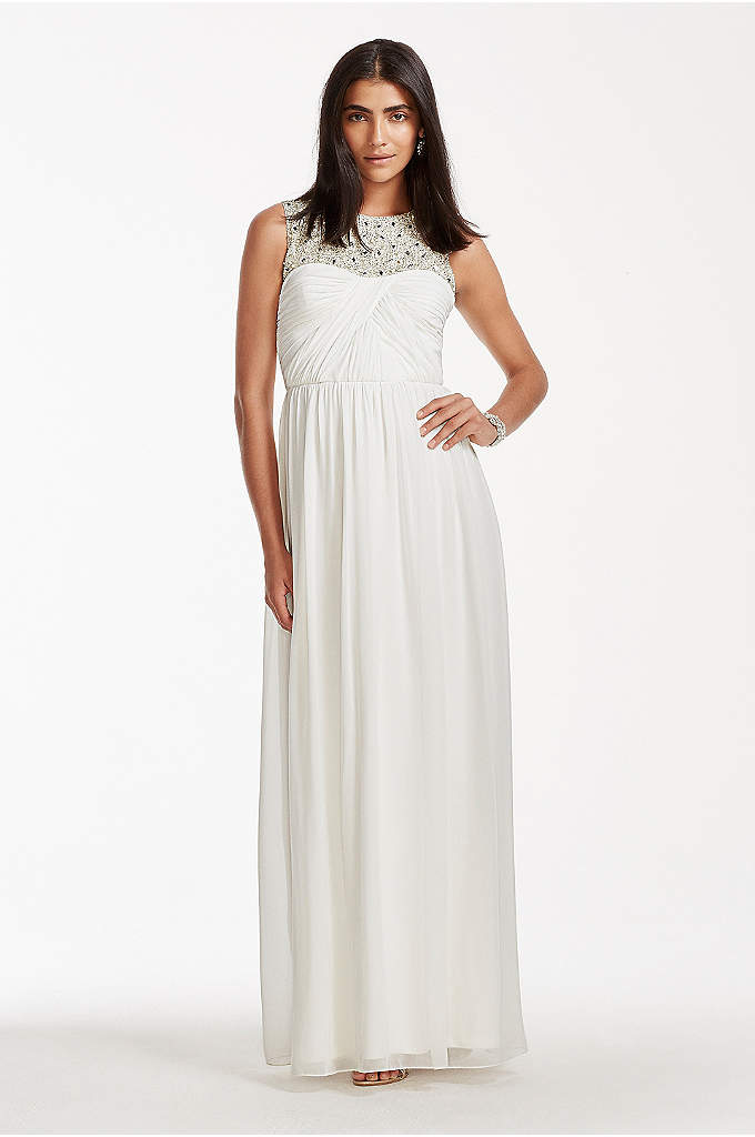 High Neck Chiffon Wedding Dress with Beading - The day and evening belongs to you! Showcase