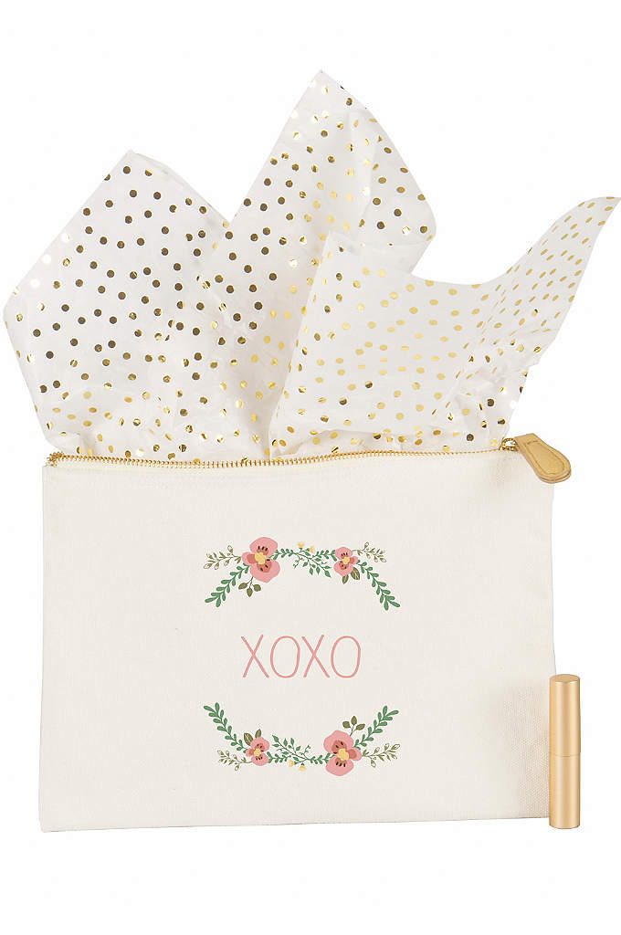 Personalized Floral Canvas Clutch - The Personalized Floral Canvas Clutch features a soft