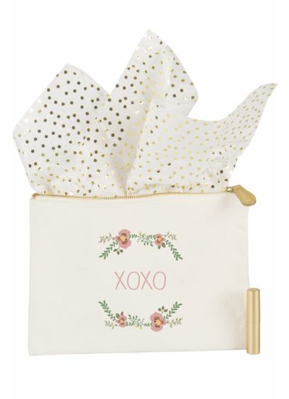 Personalized Floral Canvas Clutch - Wedding Gifts & Decorations