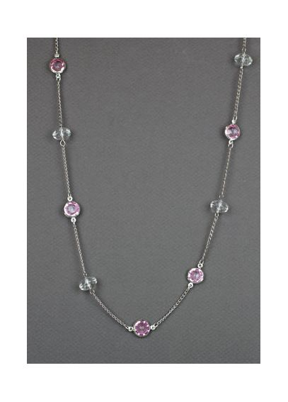 Pink Chanel Beaded Necklace 23417301