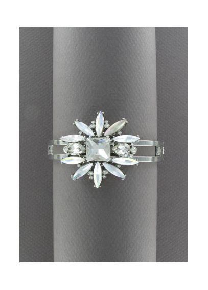 Frosted Floral Crystal Bangle 23516801