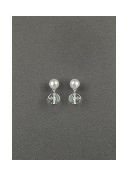 Pearl and Crystal Bead Drop Earrings - Wedding Accessories