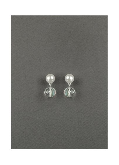 Pearl and Crystal Bead Drop Earrings 23573601
