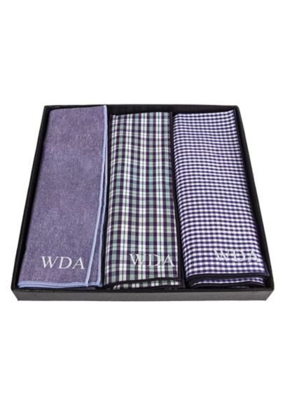 Personalized Gingham Handkerchief Set of 3 2360