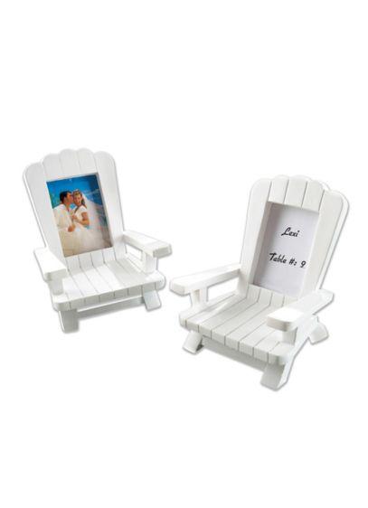 White (Miniature Adirondack Place Card Frames Set of 4)