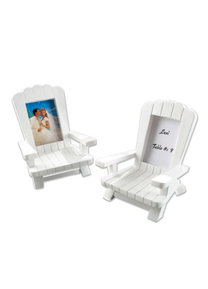 Miniature Adirondack Place Card Frames Set of 4 25043WT