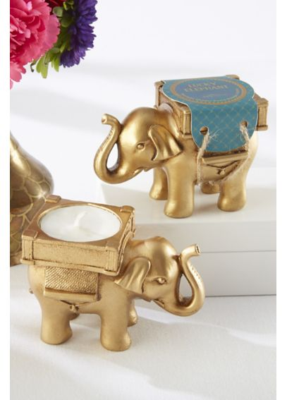 Lucky Elephant Golden Tealight Holder 25062GD