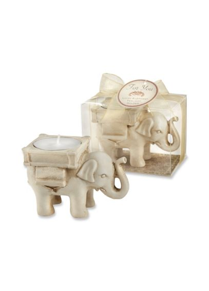Lucky Elephant Tea-Light Holder 25062IV
