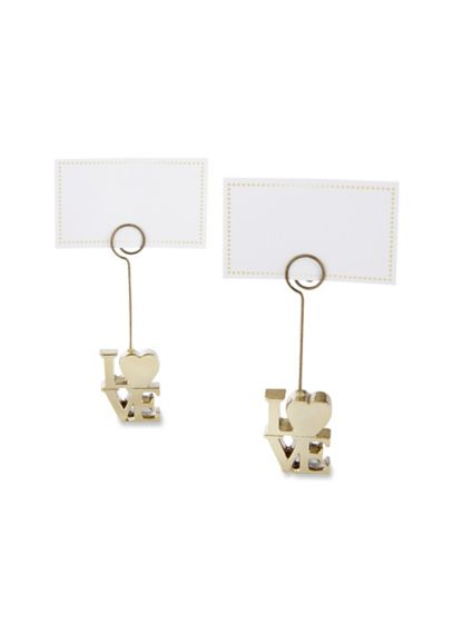 LOVE Gold Place Card Holders Set of 6 - Wedding Gifts & Decorations