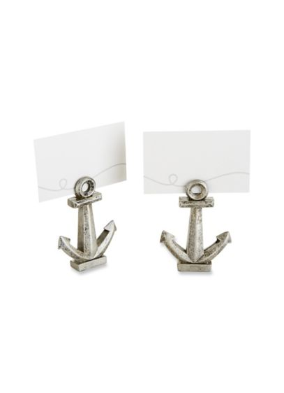 Nautical Anchor Place Card/Photo Holder Set of 6 - Wedding Gifts & Decorations