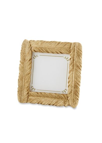 Gold Feather Flocked Frame/Place Card Holder 25173GD