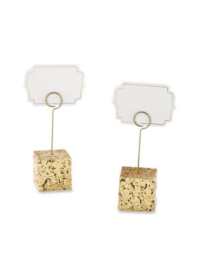 Gold Glitter Place Card Holders Set of 6 - Wedding Gifts & Decorations