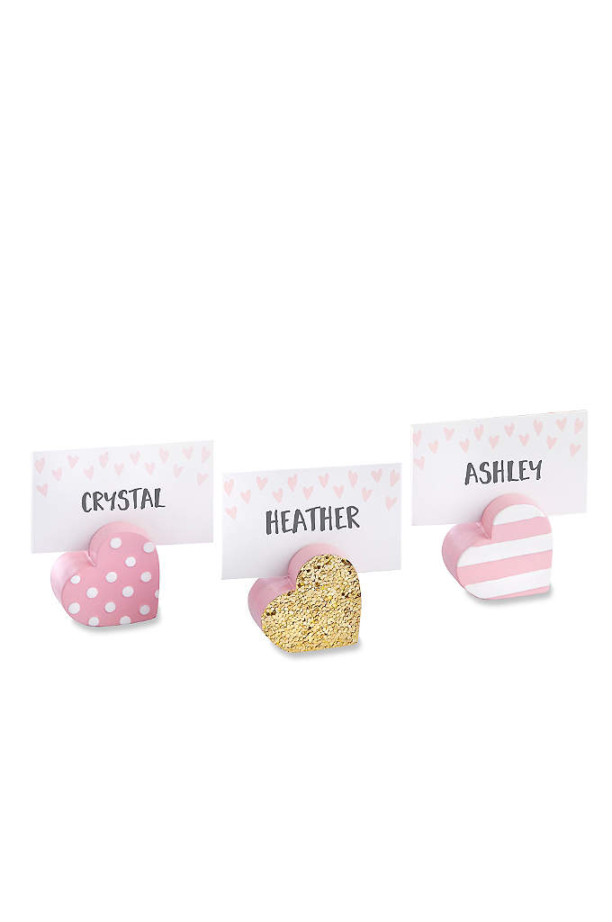 Sweet Heart Place Card Holders Set of 6 - When guests walk into your wedding or shower