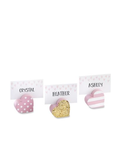 Sweet Heart Place Card Holders Set of 6 - Wedding Gifts & Decorations