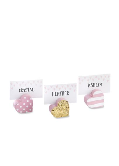 Sweet Heart Place Card Holders Set of 6 25270AS