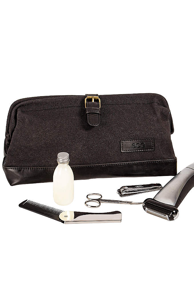 Personalized Men's Travel Dopp Kit - The Personalized Men's Travel Dopp Kit is the