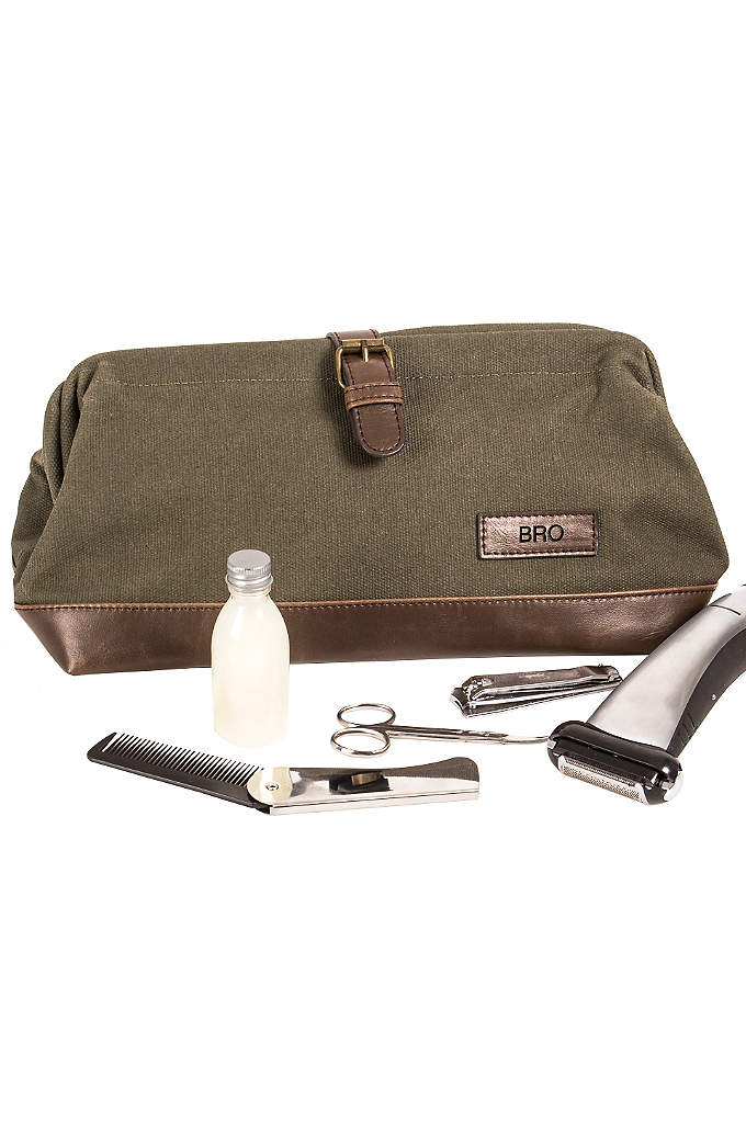 Personalized Men's Travel Dopp Kit - The Personalized Men's Travel Dopp Kit is the