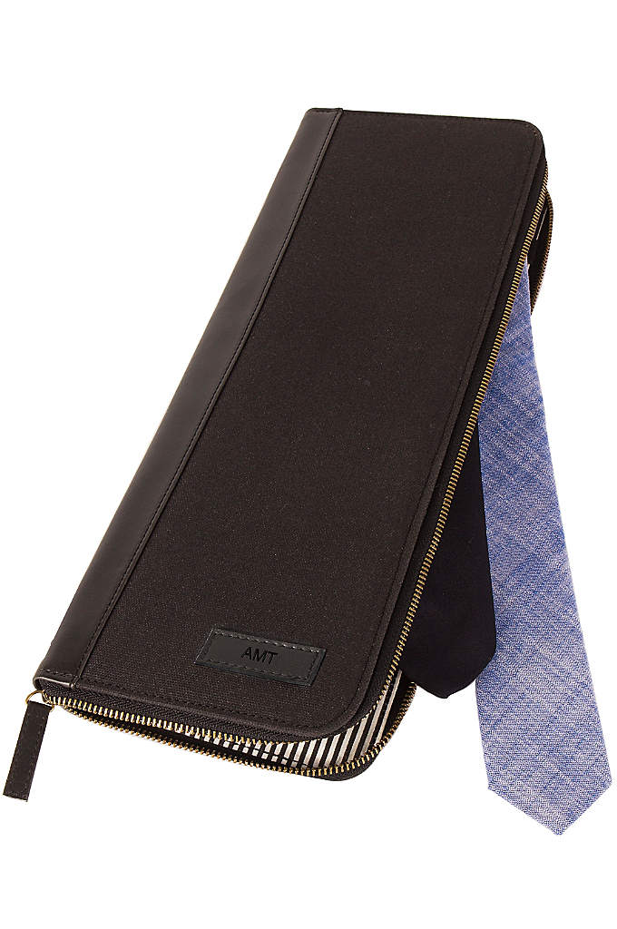 Personalized Men's Travel Tie Case - This Personalized Men's Travel Tie Case combines sophistication