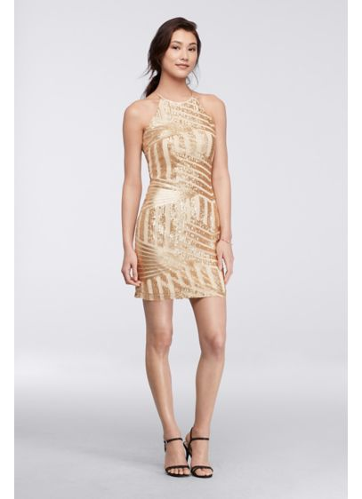 Short Sheath Halter Cocktail and Party Dress - My Michelle