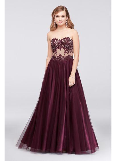 Long Ballgown Formal Wedding Dress - Blondie Nites