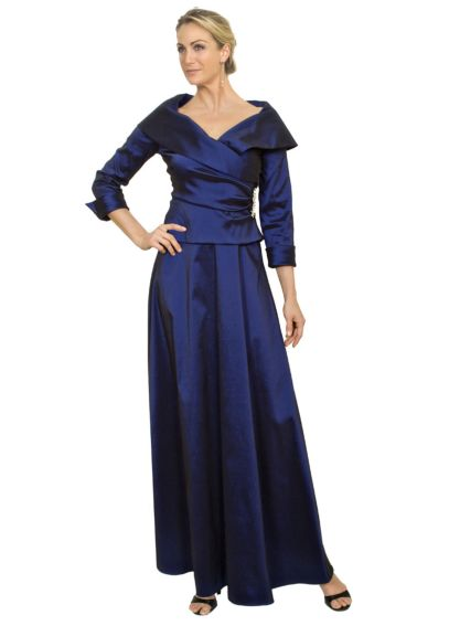 Taffeta Mock Two-Piece with 3/4 Sleeve 257086D