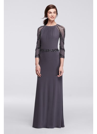 Long Sheath Long Sleeves Mother and Special Guest Dress - Marina