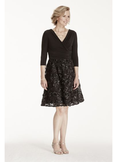 Short A-Line 3/4 Sleeves Cocktail and Party Dress - Marina