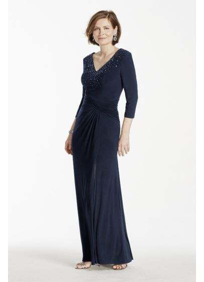 Long Sheath 3/4 Sleeves Mother and Special Guest Dress - Marina