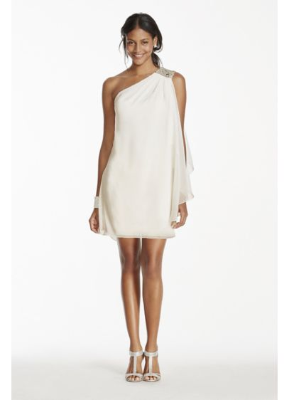 Short A-Line One Shoulder Cocktail and Party Dress - Jump