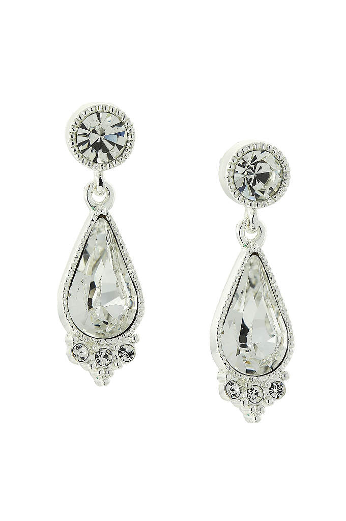 Swarovski Crystal Post Teardrop Earrings - These stunning Swarovski crystal drop earrings add sparkle