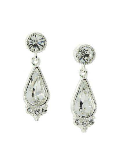 Swarovski Crystal Post Teardrop Earrings - Wedding Accessories
