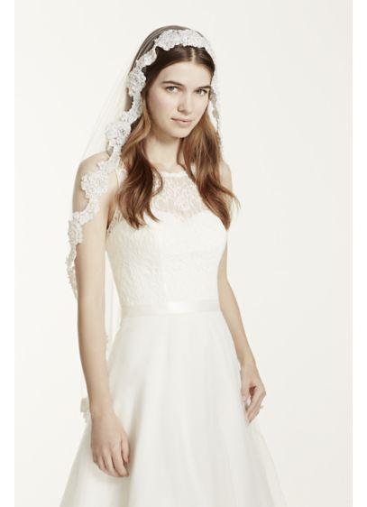 Fingertip Length Mantilla Veil - Wedding Accessories