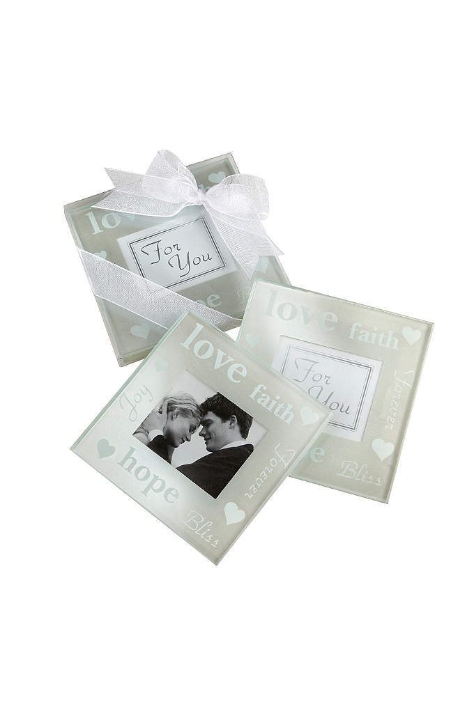 Pearlized Photo Coasters Set of 2 - Spread your good wishes and capture the emotions