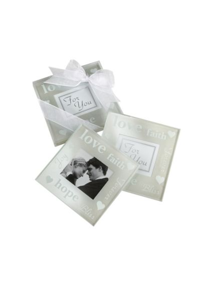 Pearlized Photo Coasters Set of 2 27015NA